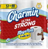 Charmin Ultra Strong Toilet Paper 12 Mega Rolls = 48 Regular Rolls