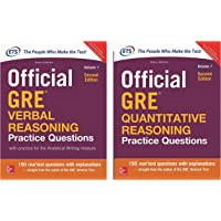 Official GRE verbal Reasoning Practice questions +  Official GRE Quantitative Reasoning Practice questions