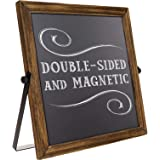 Rustic Chalkboard Sign Wooden Frame with Adjustable Stand Menu Message Board Double Sided Display Magnetic Surface Reversible