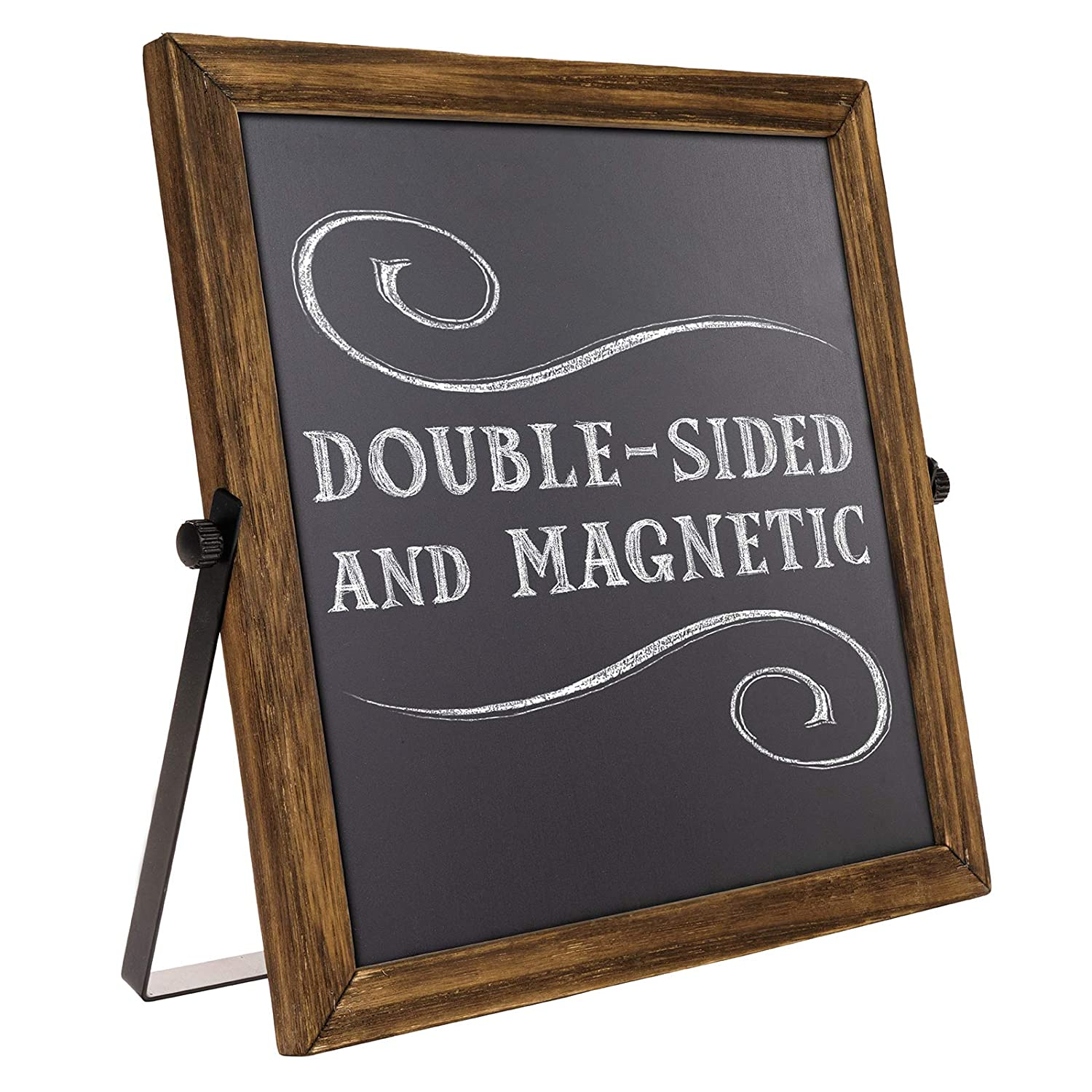 For Parties Displays Weddings Chalkboard Sign on a Stand w// Metal Rustic Frame