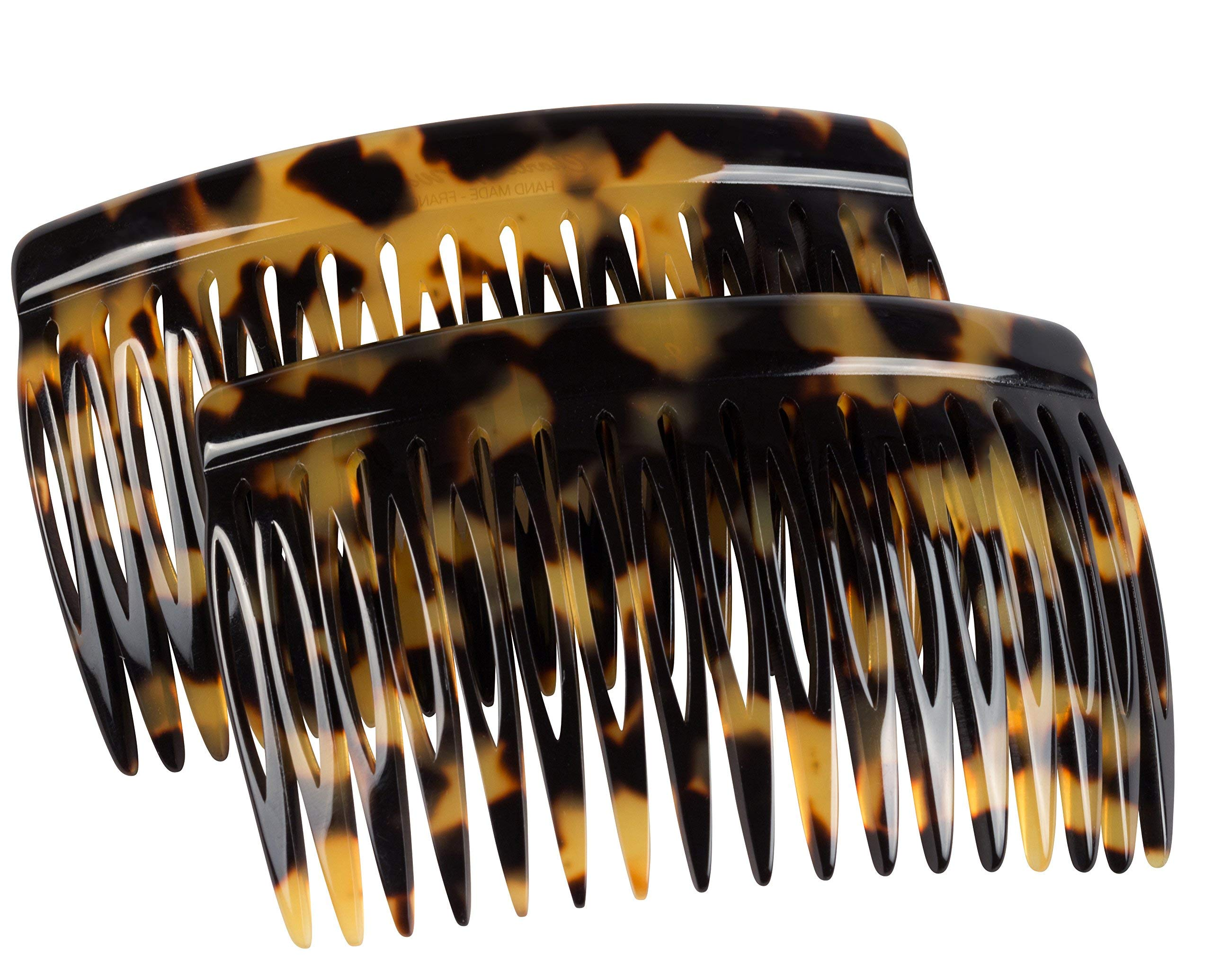 Charles J. Wahba Side Comb Pairs - 17 Teeth (Tokyo Color) Handmade in France by Charles J. Wahba
