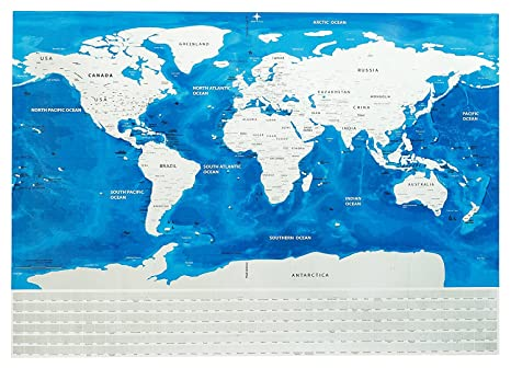Amazon scratch off world map poster with us states outlined and scratch off world map poster with us states outlined and country flags perfect for travelers includes gumiabroncs Images