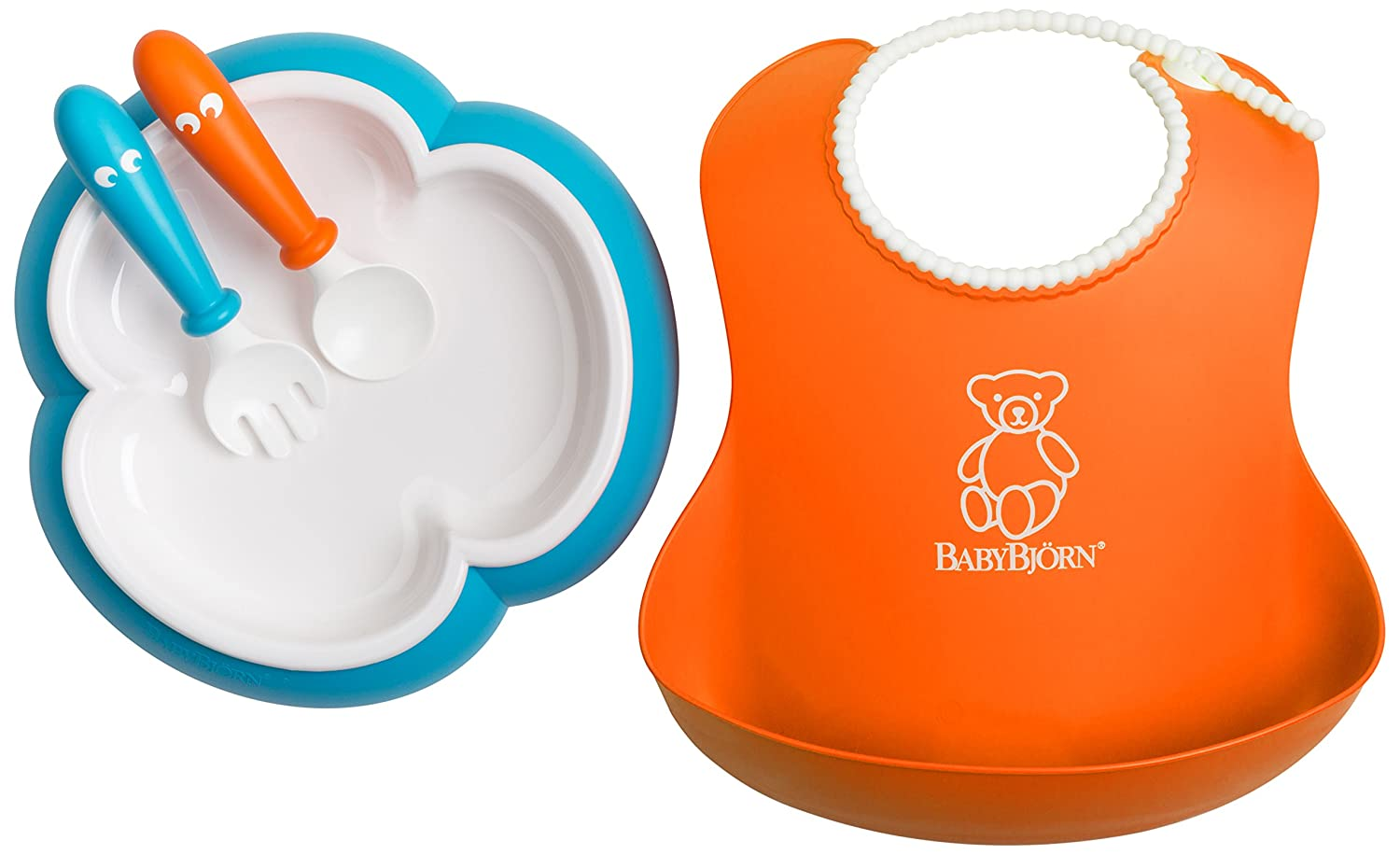 BABYBJORN Baby Feeding Set, Orange/Turquoise Baby Bjorn 078082