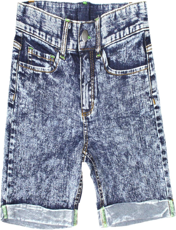 Bienzoe Ragazze Regolazione della Vita Cotone Elastico Denim Pantaloncini