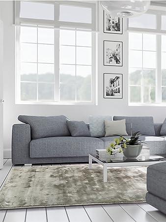 Benuta Teppich benuta teppich donna viscose grau 160x230 cm teppich für wohn und