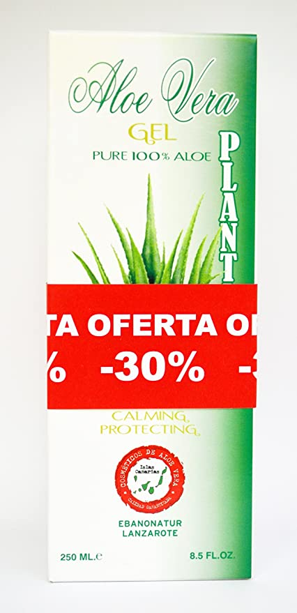 Plantaloe Gel Puro 100% Aloe Vera 250ml x 2 unidades