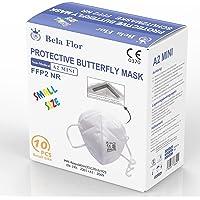 AUPROTEC FFP2 masker mini maat XS ademmasker EU CE 0370 gecertificeerd EN149:2001+A1:2009 mondbescherming 4-laags met…