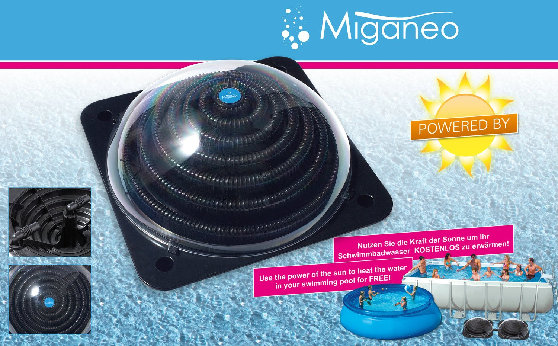Miganeo Premium Pool Schwimmbadheizung Solarheizung Kollektor