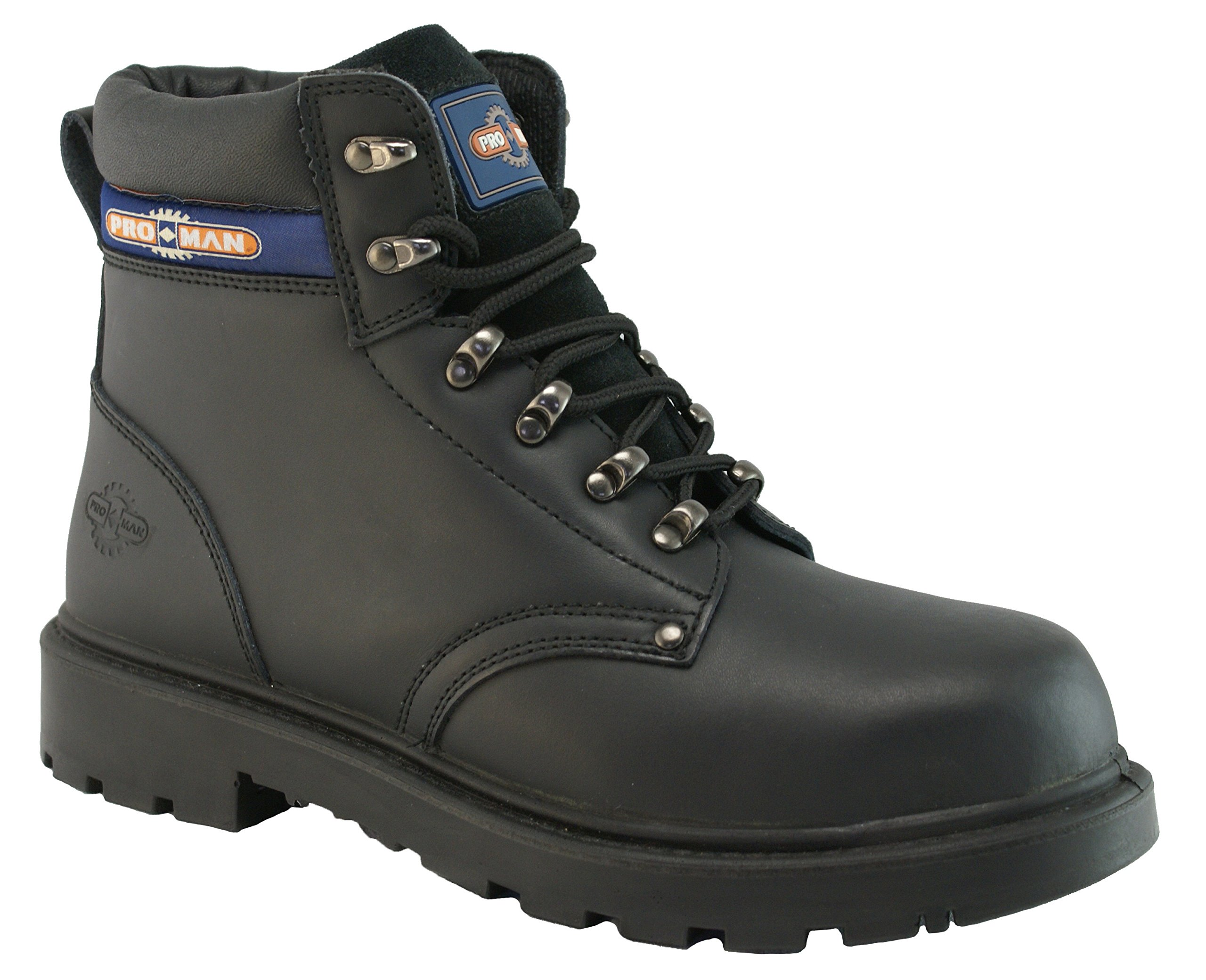 Pro-Man PM4002 Men's S3 Outsize Black Steel Toe Cap Safety & Work Boots (US Size 17, Black)