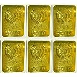 Kriwin Anti Radiation Chip Accessory Kit - Set of 6 (Gold)