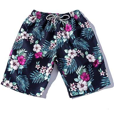 c93fbc8b35 Brezeh Summer Shorts, Couples Summer Bohemian Floral Beach Shorts Elastic  Waist Casual Swim Shorts Knee Length Holiday Hot Pants: Amazon.co.uk:  Clothing
