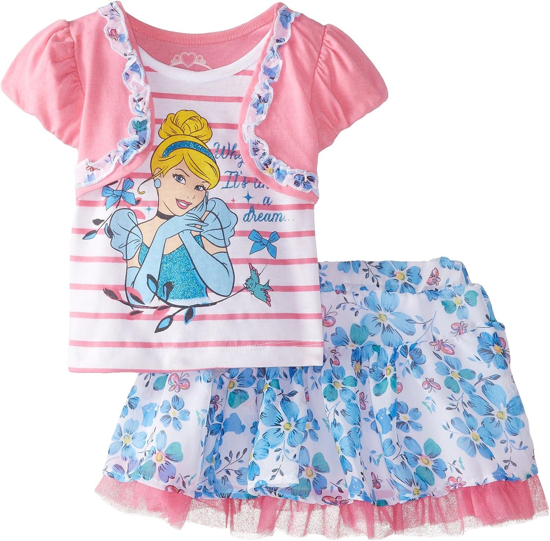 Girls Pink Short Sleeved Top with Peplum Waist and Disney Fairies detail