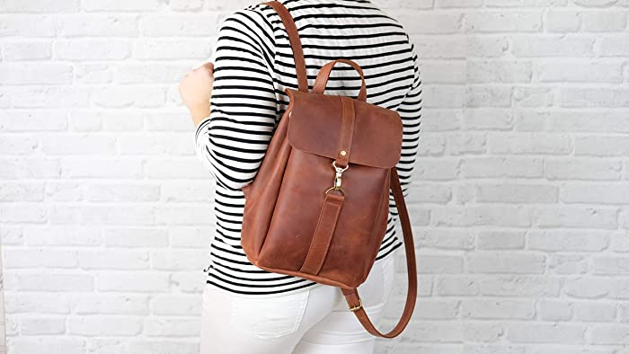 Amazon.com  Leather backpack 2c9df79a70715