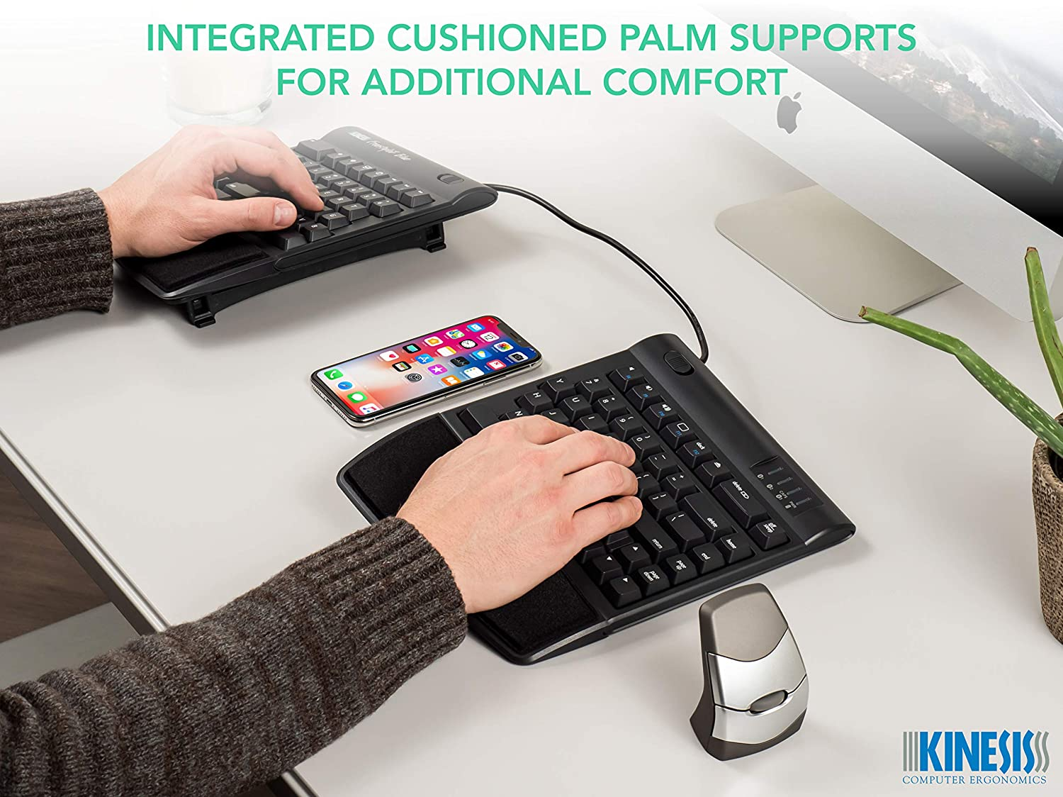 VIP3 with Palm Supports or V3 Without Palm Supports VIP3 Tenting Accessory for Kinesis Freestyle2 Ergonomic Keyboard