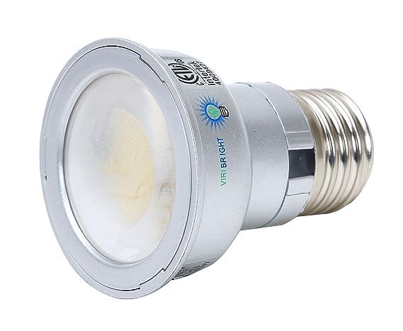 Viribright PAR16 LED light bulb 35W equivalent (4.2W Actual) Soft / Warm White 2700K Flood Light 336 lumen Medium Base (E26) 6 pack - - Amazon.com