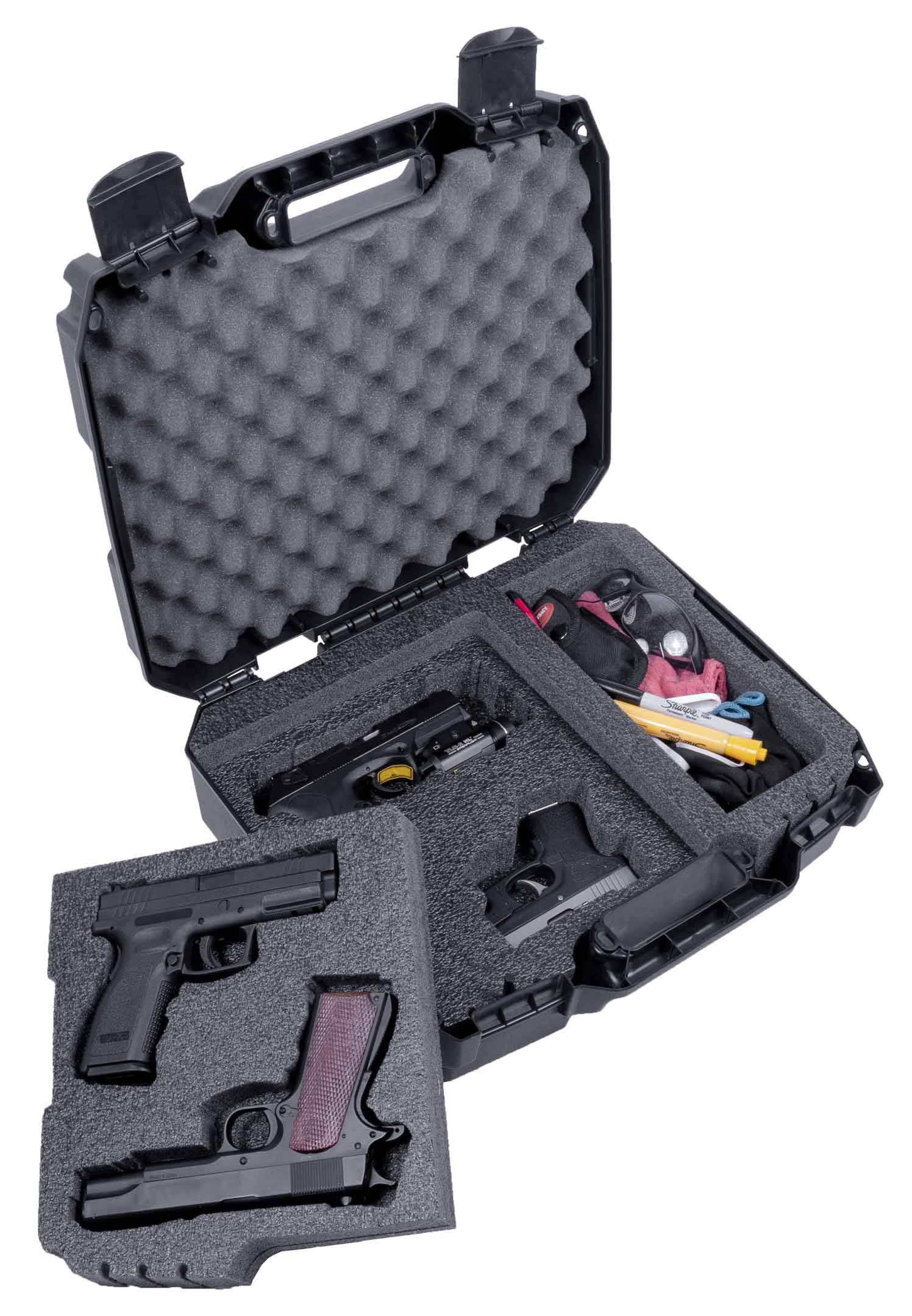 Case Club Pre-Customized 4 Pistol and Accessory Carrying Case by Case Club