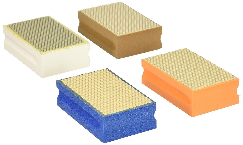 KENT 4 Assorted FINE Grits Premium Diamond Hand Polishing Pads For Granite Stone