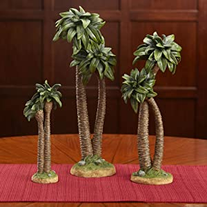 Three Kings Gifts The Original Gifts of Christmas Realistic Palm Tree Resin Stone Table Top Nativity Figurine - 14 inch Scale
