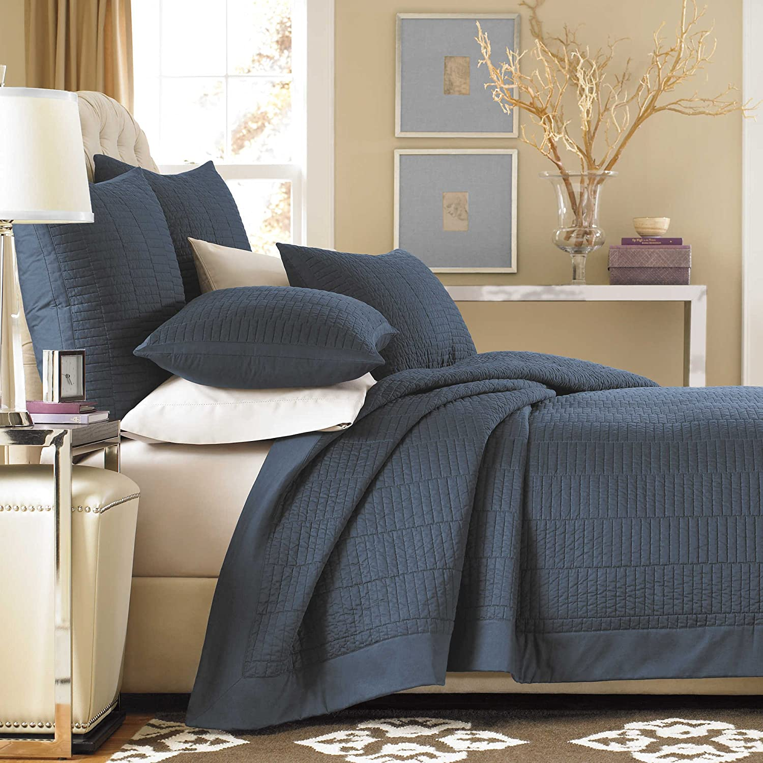 Real Simple European Pillow Sham from the Dune Bedding Collection in an Ink Color