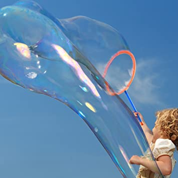 Burbujas Varitas Kit Bandeja Con Gigante De 3TFclK1J
