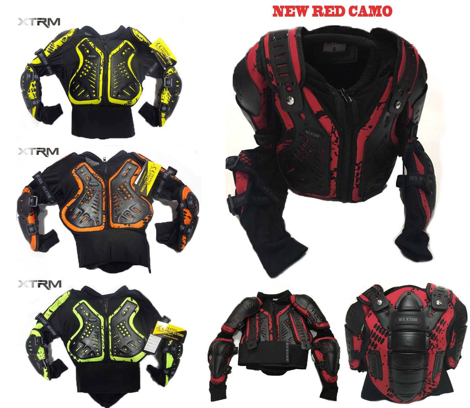 KIDS BODY ARMOUR MOTORBIKE MOTORCYCLE MOTOCROSS CUBS SPINE GUARD CE PROTECT SUIT
