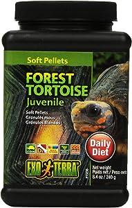 Exo Terra Pellets Forest Tortoise Soft Food, Reptile Food