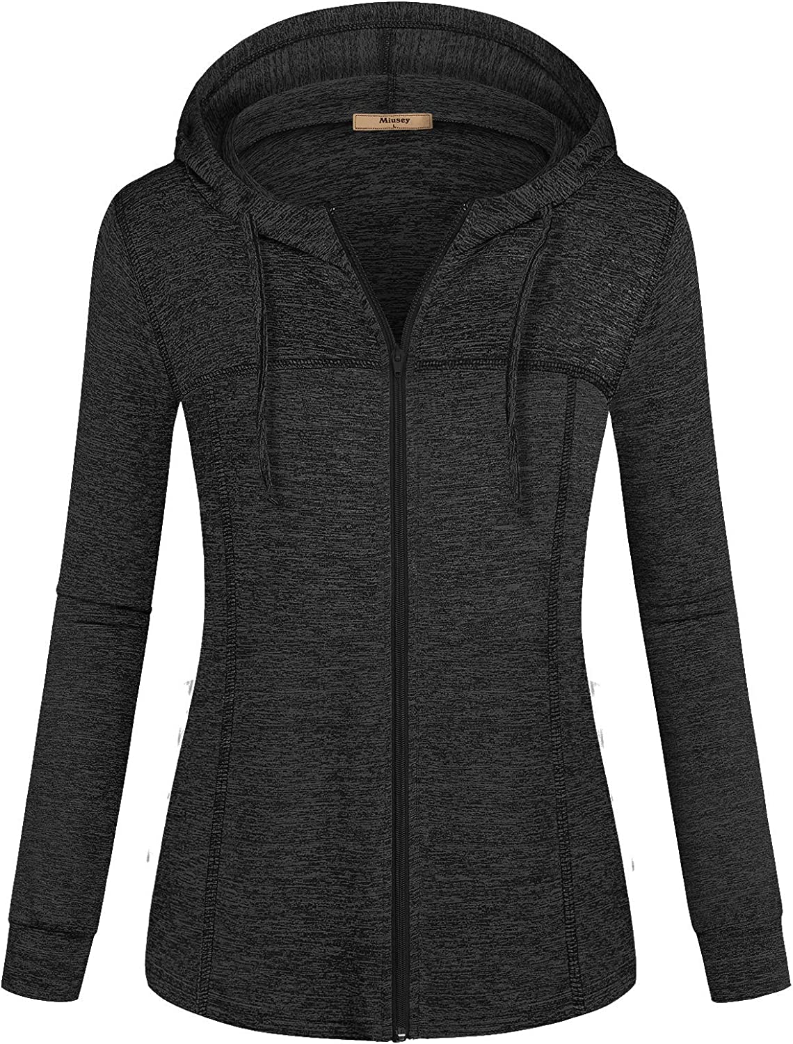 Miusey Womens Long Sleeve Sport Workout Active Pullover Hoodie