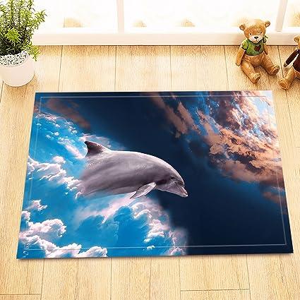 LB El delfín Nada al Universo,la Alfombra de baño,40 × 60 CM