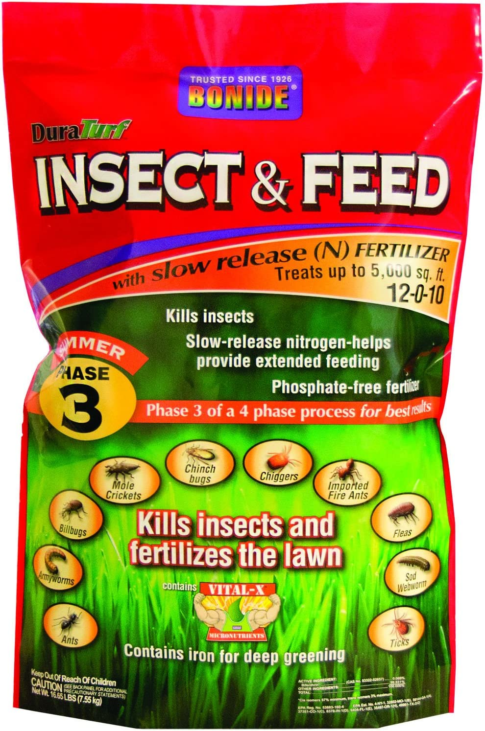 BONIDE PRODUCTS 60430 Insect Control Fertilizer, 5M