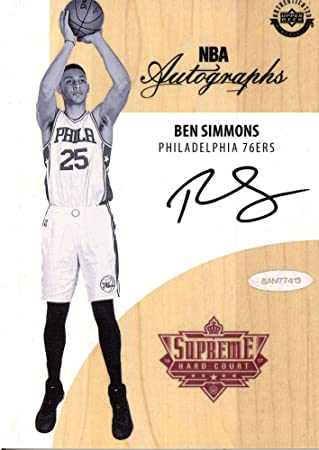 Ben Simmons Philadelphia 76ers Autographed Black and White Game Used  Supreme Hard Court - Upper Deck 3959b7532