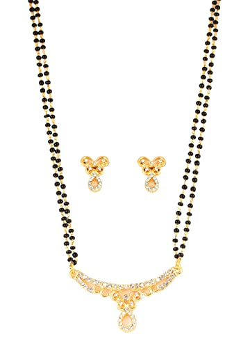 Indian Single Ad American Diamond Fashion Jewelry Mangalsutra Bolllywood Set M-3 Bridal & Wedding Party Jewelry