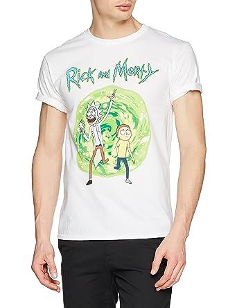 I-D-C Rick and Morty-Portal, Camiseta para Hombre: Amazon.es: Ropa y accesorios