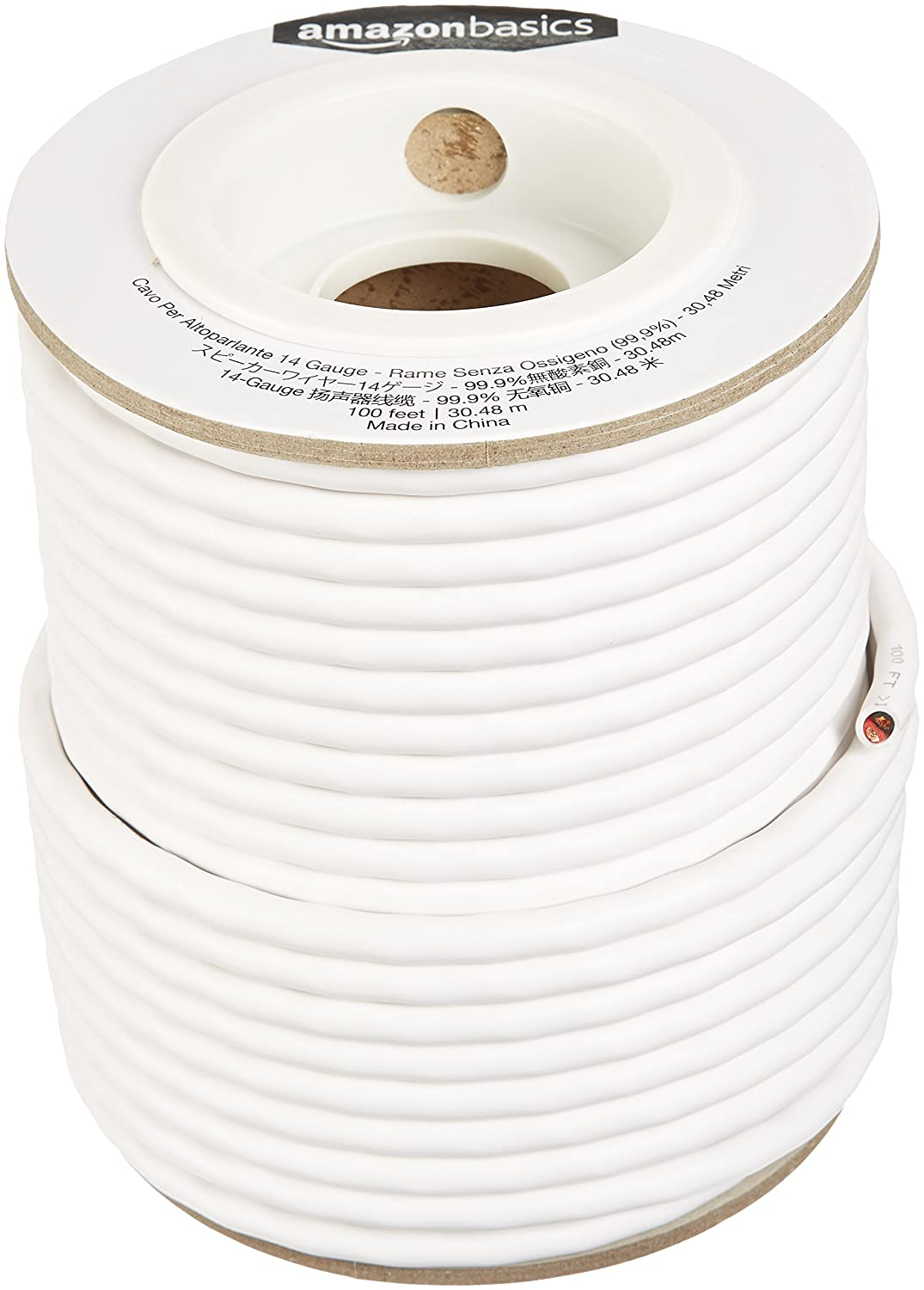 Amazonbasics Speaker Wire 12 Gauge 999 Oxygen Free Basement Wiring Copper 100 Feet Electronics