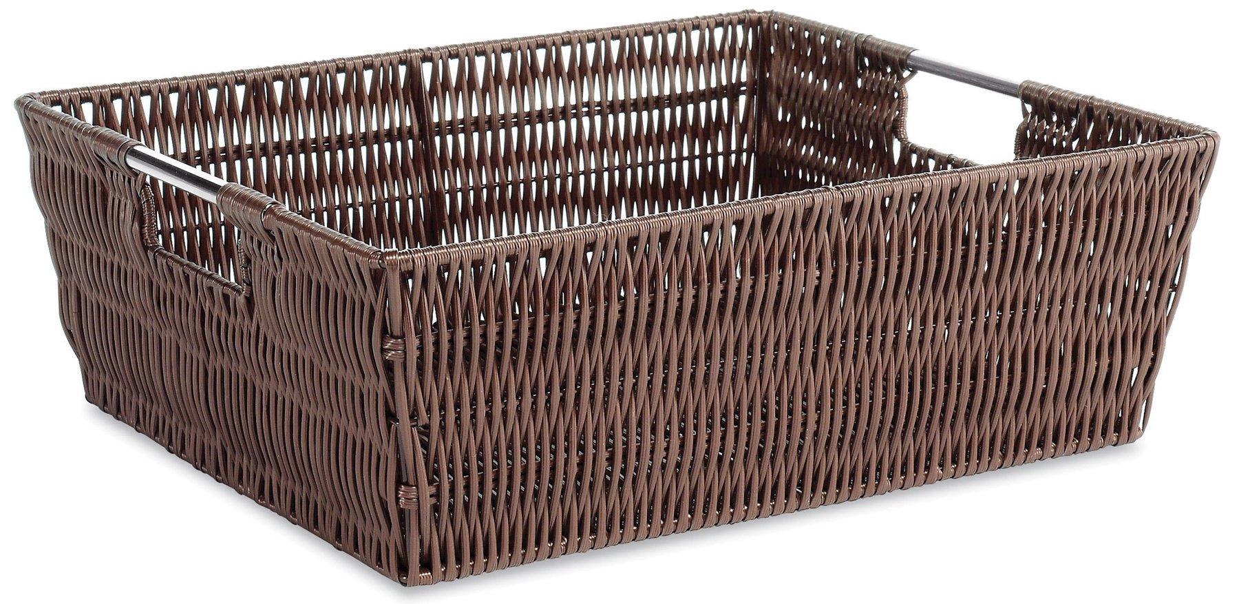 Whitmor Rattique Shelf Storage Tote Basket - Java