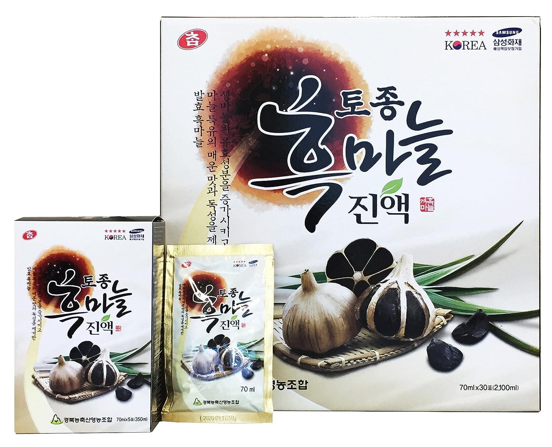 黒にんにくエキス 70ml×30包 韓国健康食品 B0797QJK1Y