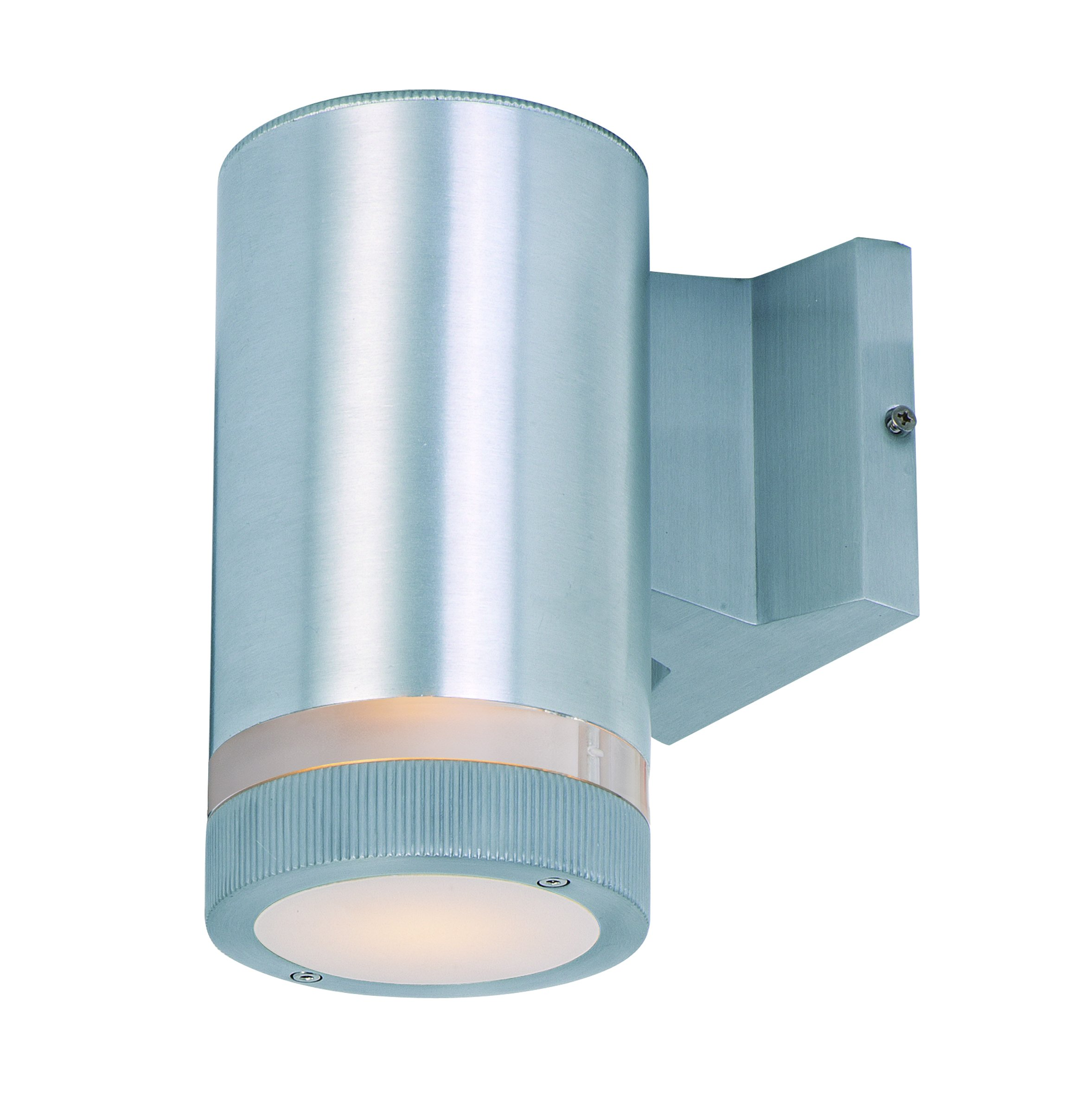 Maxim 86110AL Lightray LED 1-Light Wall Sconce, Brushed Aluminum Finish, Glass, PCB LED Bulb , 60W Max., Dry Safety Rating, Standard Dimmable, Shade Material, Rated Lumens