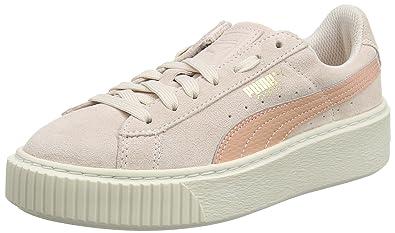 99c01e0a716b Puma Unisex-Kinder Suede Platform SNK Jr Sneaker Pink (Pearl-Peach Beige)