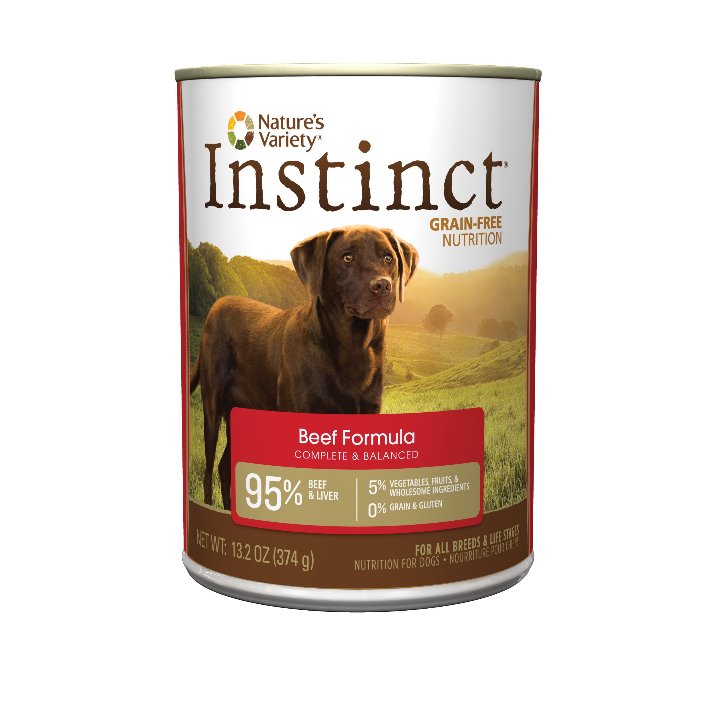 Nature'S Variety Instinct Grain Free Beef Formula Natural Wet Canned Dog Food By, 13.2 Oz. Cans (Case Of 12) by Nature's Variety