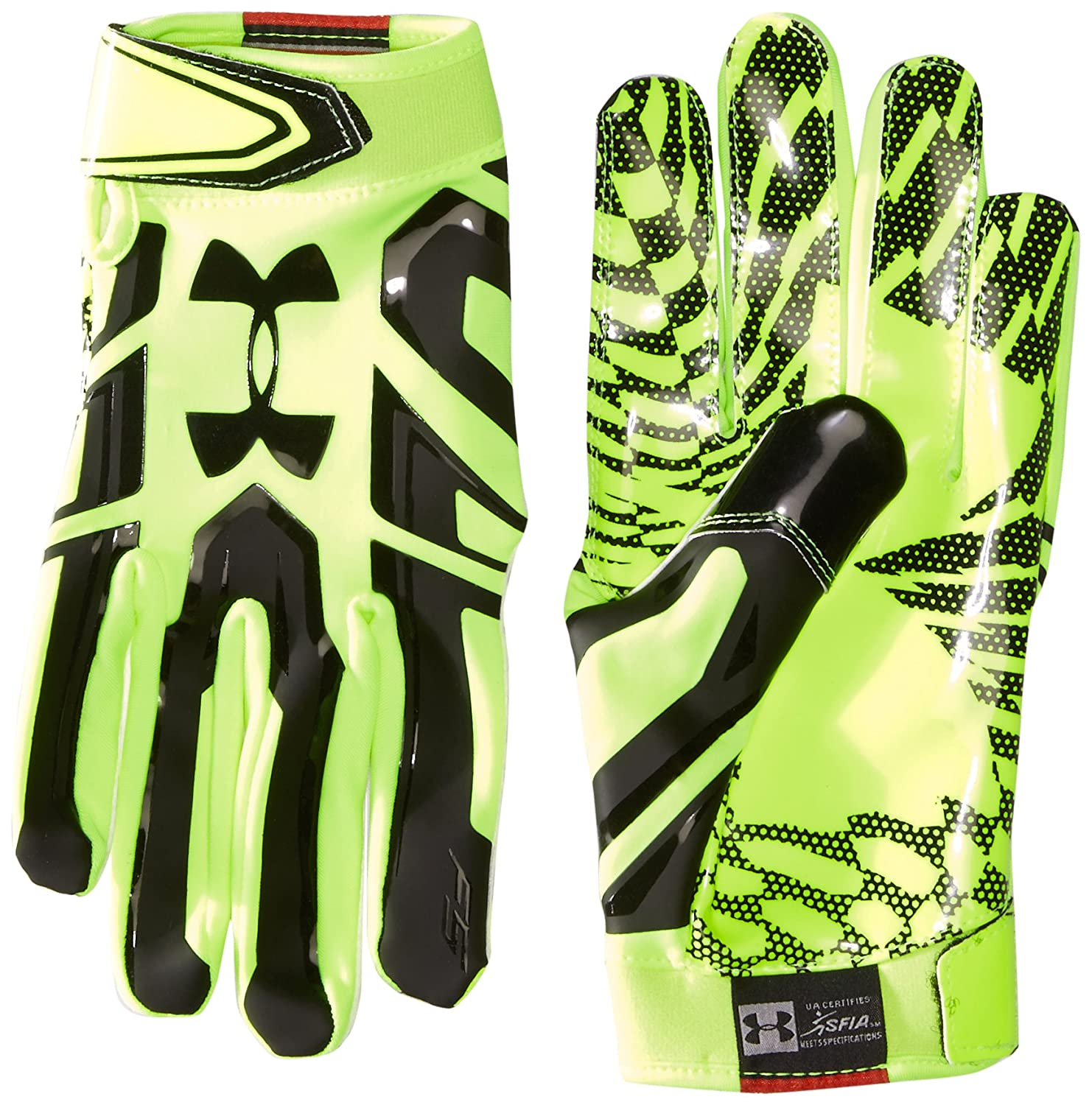Under Armourメンズf5 Football Gloves B01H8MDHIO X-Large|High-Vis Yellow/Black High-Vis Yellow/Black X-Large