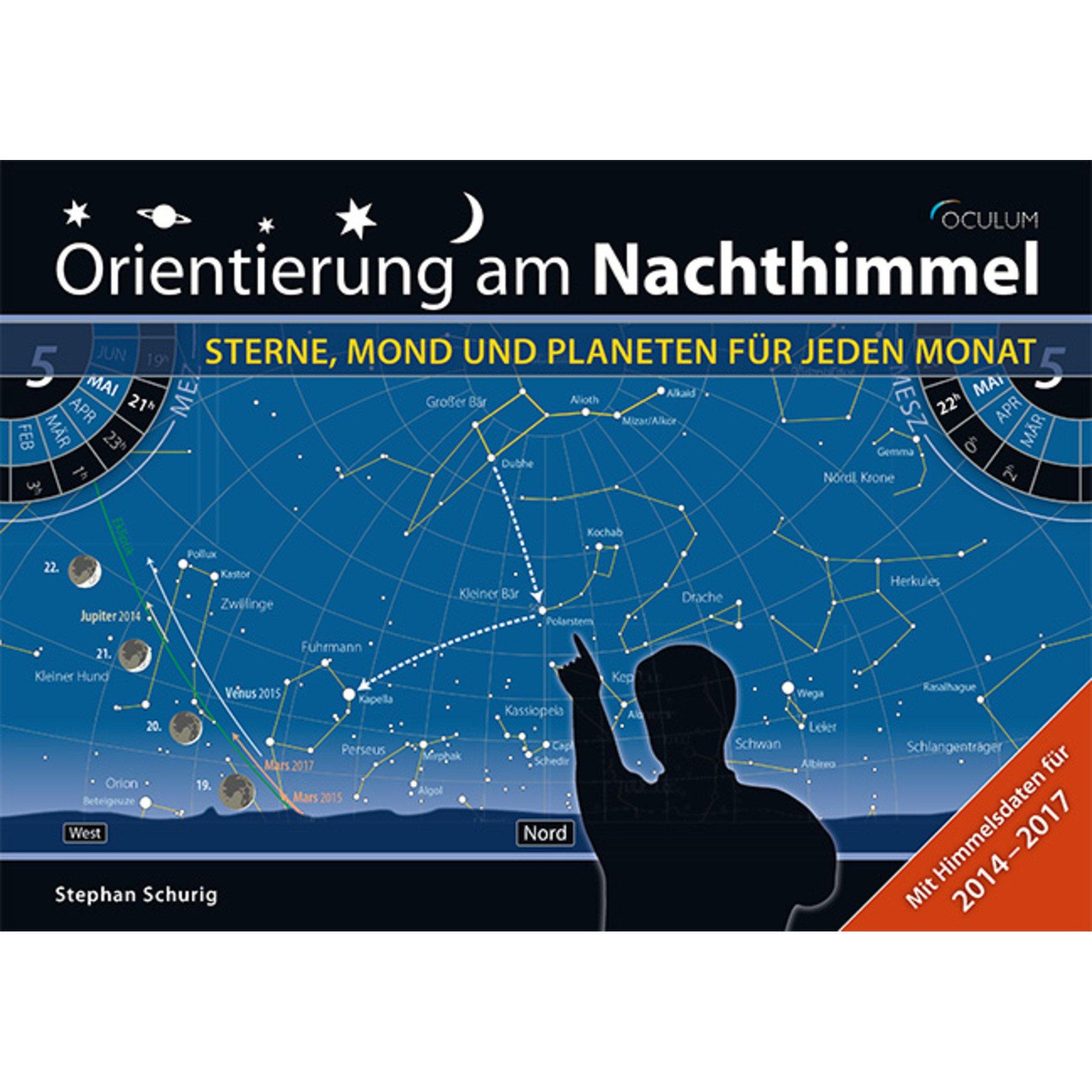 Orientierung am Nachthimmel: Sterne, Mond und Planeten für jeden Monat