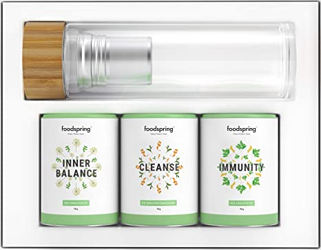 foodspring Té Pack de Infusiones, Balance & Protection, 3 x 70g ...