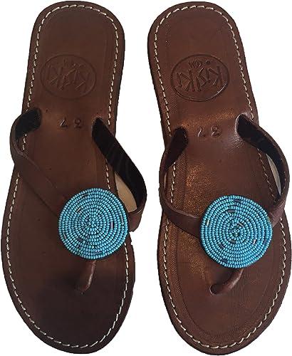 KISIKI Handmade Beaded Leather Flip