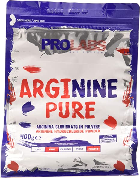 Integratore di arginina in polvere prolabs arginine pure - busta da 400gr ARP400POL