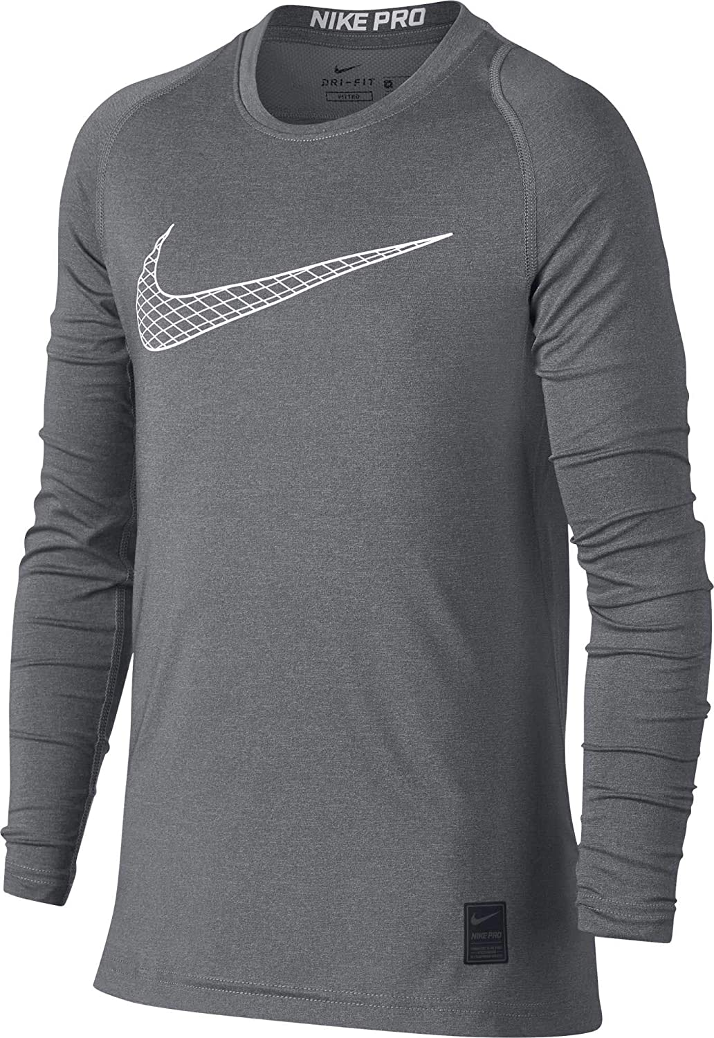495f0f04 Amazon.com: Nike Kids Boy's Pro Fitted Long Sleeve Training Top (Little Kids/Big  Kids): Clothing