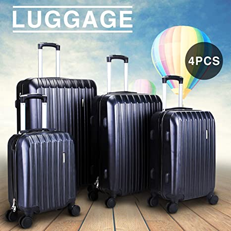 Image Unavailable. Image not available for. Color  Nice1159 New 4 pcs Travel  Spinner Luggage ... 52a3a449b99b7