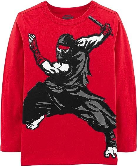 Amazon.com: OshKosh BGosh Boys Long Sleeve Ninja Tee (14 ...