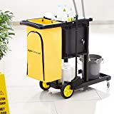 AmazonCommercial Janitorial Cart with Key-Locking
