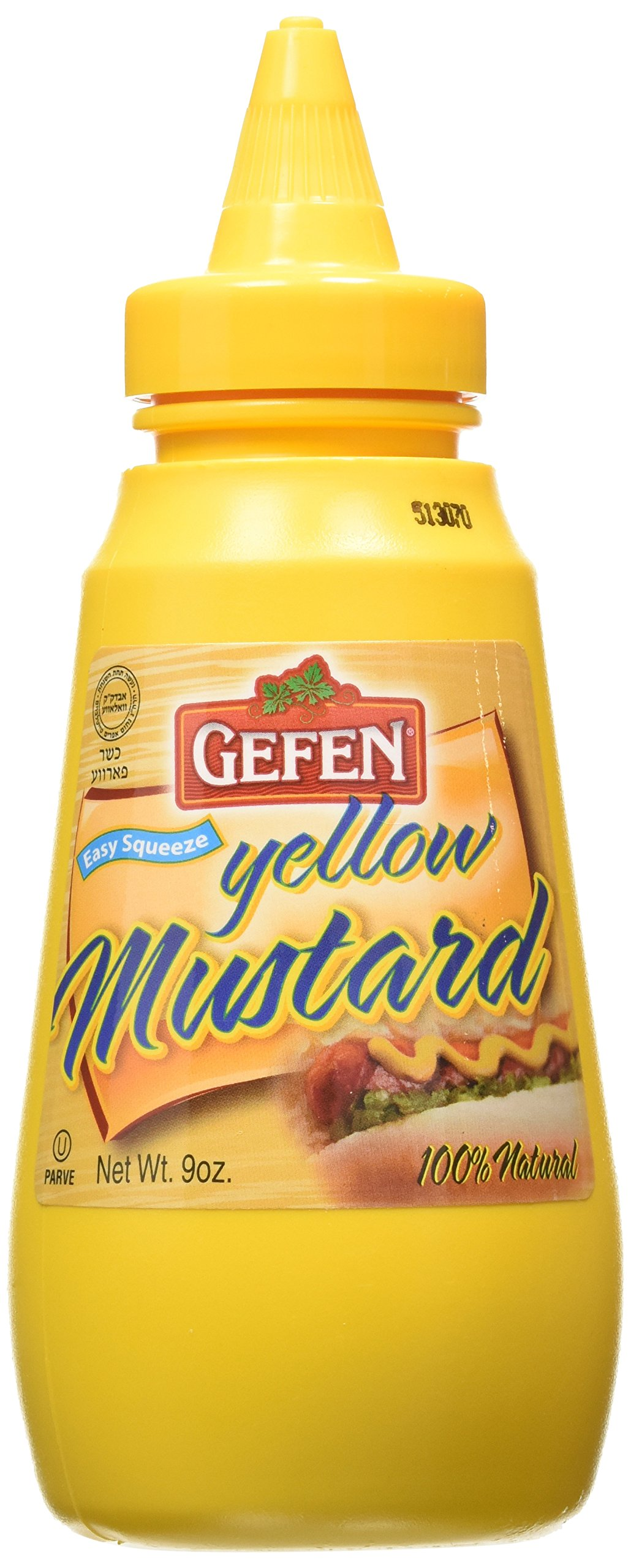 Gefen Yellow Mustard, 9 Ounce (Pack of 24)
