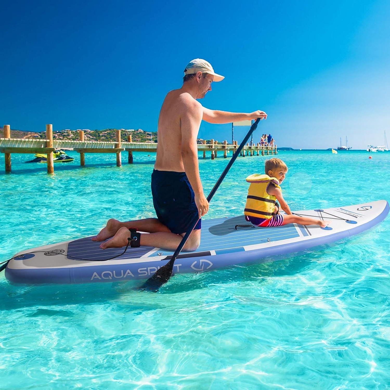AQUA SPIRIT 300x80x12.5cm ISUP Tabla Hinchable de Paddle Surf Sup para Principiantes