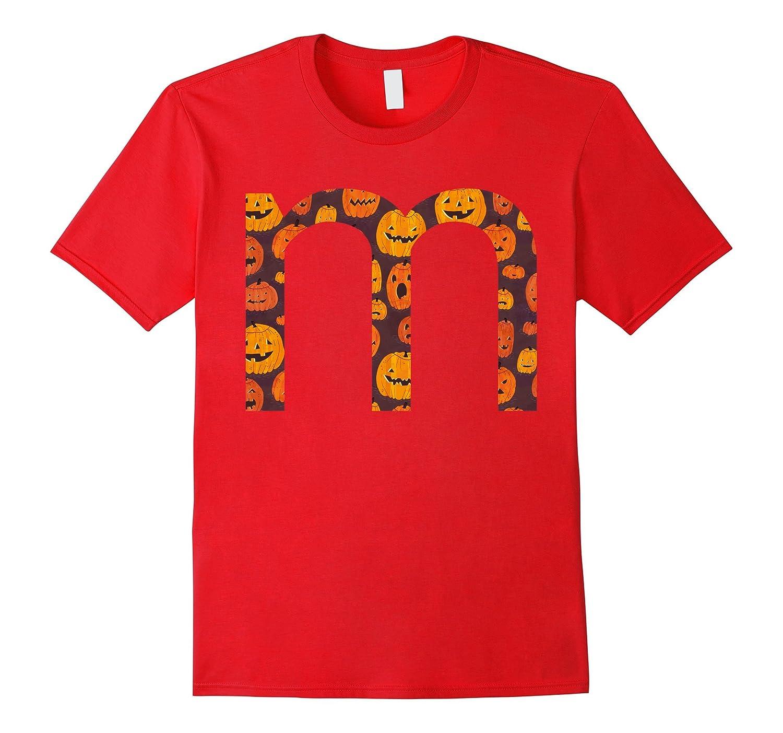 M Letter T-Shirt Funny Halloween Candy Gift Idea Shirt-T-Shirt
